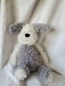 "Jellycat Mumbles Sheepdog Dog Dewberry Gray White 12"" Soft Toy Stuffed Animal"