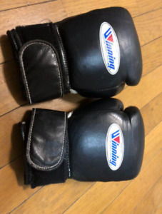 WINNING Boxing Gloves Black Color Named 8oz Used