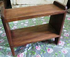 Handmade Wooden Open Shelf 2 tier storage Display stand bed side Multi use table