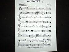 MAMBO NO. 5 - Big Band Bright Mambo Tempo - Arrangement of PEREZ  PRADO'S HIT!
