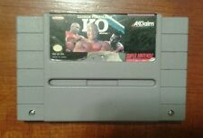 George Foreman's KO Boxing Super Nintendo * SNES * Authentic * Tested * VF