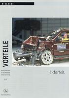 1127MB Mercedes M-Klasse Vorteile Sicherheit Prospekt 2001 6/01 deutsch brochure