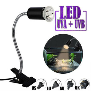 UVA UVB Reptilien Wärmelampe Aquarium Terrarium Heizlicht mit Lampenhalter DE