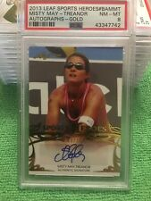 PSA Pop 1 Misty May Treanor 2013 Leaf Sports Heroes autograph Gold 8/10 BA-MMT