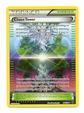 CHAOS TOWER 94/124 XY FATES COLLIDE POKEMON TRAINER CARD