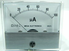 Amperometro 100uA 70x60, classe 1,5 MEGA EM/55TL , microamperometro #
