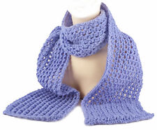 Golden Valley Scarf.Hand-knitted in the UK.Soft Acrylic Yarn. Lavender Blue.New.