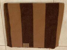 Soft & Warm Two Tone Brown Striped Blanket Plaid 68''x56''