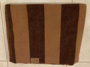 Soft & Warm Two Tone Brown Striped Blanket Plaid 68''x56'