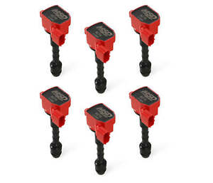 82796 MSD Ignition Coils Blaster Series, 2003-2008 Nissan/Infiniti 3.5L, Red,