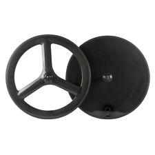 Front 65mm Tri Spoke Rear Disc Wheel Road Carbon Wheelset Bike Clincher Wheels