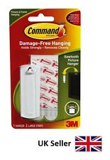 3M Command Sawtooth Picture Hanger Hook With Adhesive Strip 17040 Damage Free