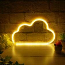 White Cloud LED Neon Light Sign Wall Light Stand Bar Lamp Home Nursery Room