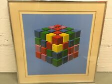 """Marko Spalatin (1945-) """"Colored Cubes"""" Serigraph LE 2/60 Size 18""""x18"""" Signed"""