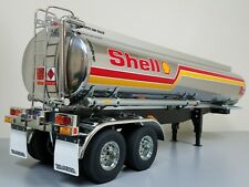 "Rare Tamiya R/C 1/14 Semi Shell Fuel Tank Tanker Trailer Tractor ""Discontinued"""