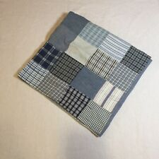 Blue Plaid Patchwork Euro Pillow Sham Pottery Barn