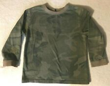 Boys Baby Gap Size 5 Green Camouflage Long Sleeve Shirt Top SL
