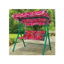 CHILDREN OUTDOOR PATIO FURNITURE CANOPY SWING BENCH BACKYARD GARDEN KIDS COMFORT
