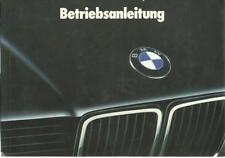 BMW E32 Betriebsanleitung 1988 Handbuch 7er 730i 735i 735iL 750i 750iL BA