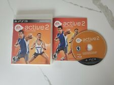 EA SPORTS ACTIVE 2 PERSONAL TRAINER GAME FOR PLAYSTATION 3 PS3, CASE, GAME, MANU
