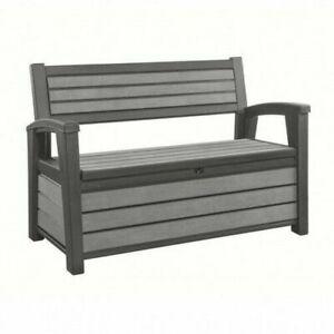 Hudson Garden Bench Garden Outdoor Furniture Keter 227L