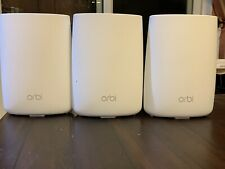 NR NETGEAR Orbi AC3000 Tri-band Mesh WiFi System RBR50 And 2 RBS50