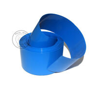 1M Blue Flat Width 300MM, Round diameter 191MM PVC Heat Shrink Tubing Wrap