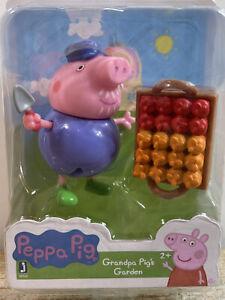 "Peppa Pig Grandpa Pig's Garden 2.5"" Mini Figure Jazwares"