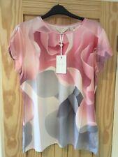 Ted Baker Porcelaine Rose Ajusté T Shirt BNWT ❤ Sz 4 UK 14 CIAA