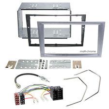 OPEL CORSA C 00-04 2-DIN radio de voiture Set d'installation cache chromé mat