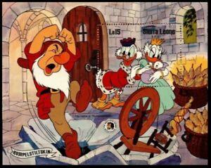 Rumpelstiltskin Disney Souvenir Sheet 1985 Sierra Leone #737