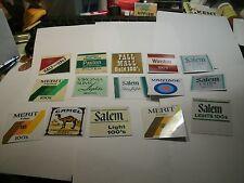 """box#   15 Vintage 2"""" X 2""""  Vending Machine Cigarette Machine Labels  Great"""