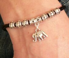Elephant Charm Bracelet Silver Sacred Animal Wildlife Birthday Love Hindu Gift