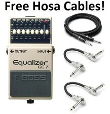 New Boss GE-7 Graphic Equalizer Guitar Pedal FREE Hosa Cables!