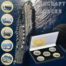 WR 5pcs Aircraft Carrier Gold Commemorative Coin For Collection In Nice Box