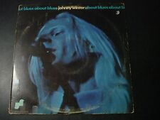 JOHNNY WINTER ABOUT BLUES LP RECORD PROMO DJ ON LABEL JLS 3008