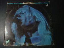 JOHNNY WINTER ABOUT BLUES LP RECORD PROMO DJ ON LABEL JLS 3008