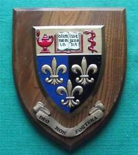 c1960  Epsom College Public School University Crest Shield Plaque
