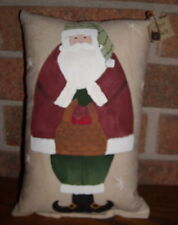 Prim- APPLE SANTA* Ornie Shelfsitter Folk Art HP