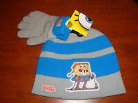 BOYS TODDLER SPONGEBOB HAT AND GLOVES SET  SIZE- TODDLER (ONE SIZE FITS ALL)