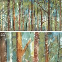 """36""""x18"""" WOODLAND by CAROLINE GOLD FOREST FULL OF TALL SKINNY TREES CANVAS"""