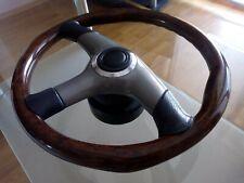 Rare beautiful BMW RAID 10 PETRI  Wood leather Steering Wheel M e34 e30 e28 e24