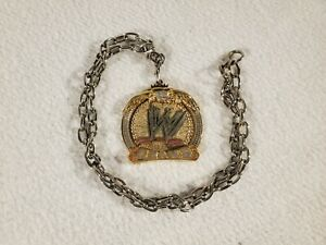 WWE John Cena Champ Gold Necklace Chain Spinner World Championship Eagle Crown