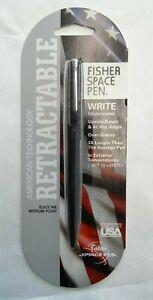 Fisher Bullet Space Pen Matte Finish - Medium - RETRACTABLE - Black - NEW