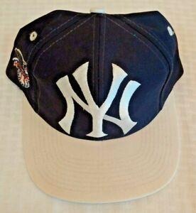 Vintage 1990s Big Logo Athletic Yankees Baseball Hat Cap New MLB Snapback Jeter