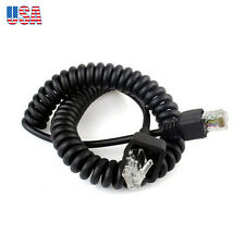 8 Pin Replacement Microphone Cable Coiled Cord for Kenwood Mobile TK-763/763G