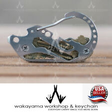 Outdoor EDC Hard Stainless Key Holder Organizer Clip Folder Keychain Pocket Kit