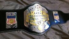 A+W+A World Heavyweight Championship Replica Title Belt - Brass Metal Plates