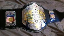 A+W+A World Heavyweight Championship Replica Title Belt - Brass Metal Plates