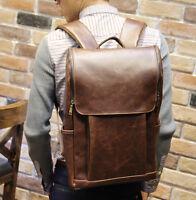 Mens Synthetic leather Briefcase Laptop Shoulder Messenger Handbag Backpack Bag